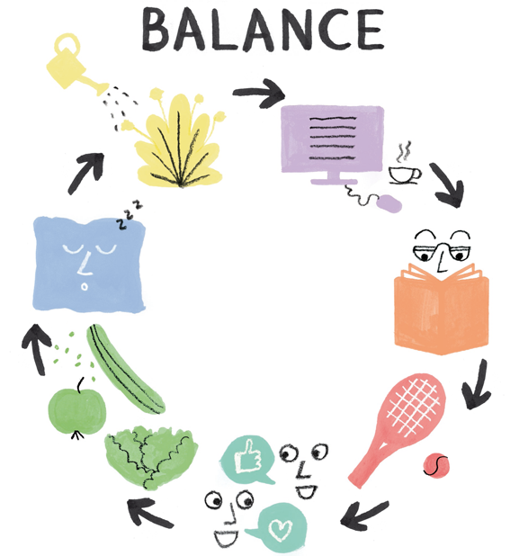 ILLUSTRATION WORK-LIFE BALANCE
